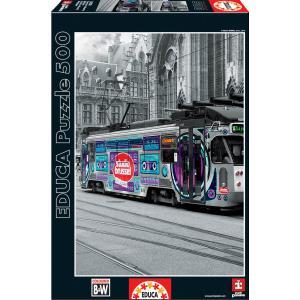 Educa - 16358 - Puzzle 500 tram de gand, Belgique (276618)