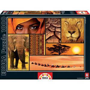 Educa - 16293 - Puzzle 1000 couleurs d'Afrique (276624)