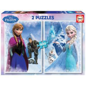 Educa - 16280 - Puzzle 2x500 la Reine des Neiges (276634)