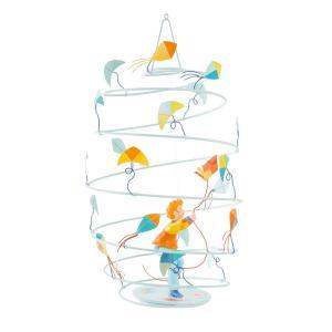L'oiseau bateau - SPI0009 - Mobile Les Spirales Garçon au cerf-volant (278190)