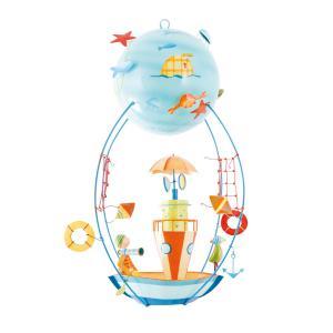L'oiseau bateau - SCH0013 - Mobile Les Schlumpeters Le bateau-phare (278192)