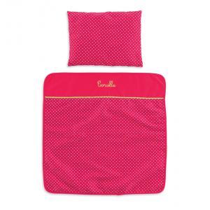 Corolle - CMW95 - Set couverture & oreiller cerise (279002)
