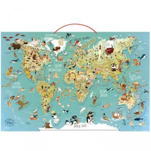 Vilac - 2720 - Carte du monde fantastique magnétique  - à partir de 7-12 (280908)