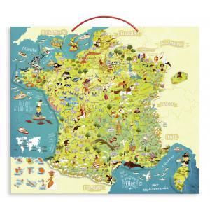 Vilac - 2725 - VILAC - Carte des merveilles de France magnétique (280916)