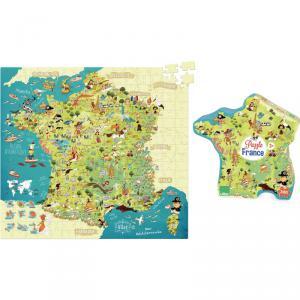Vilac - 2726 - Puzzle Carte des merveilles de France - à partir de 8-12 (280918)