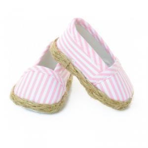 Petitcollin - 603908 - Espadrilles à rayures roses / blanc T. 39 / 40 / 44 / 48 cm - à partir de 3+ (281076)