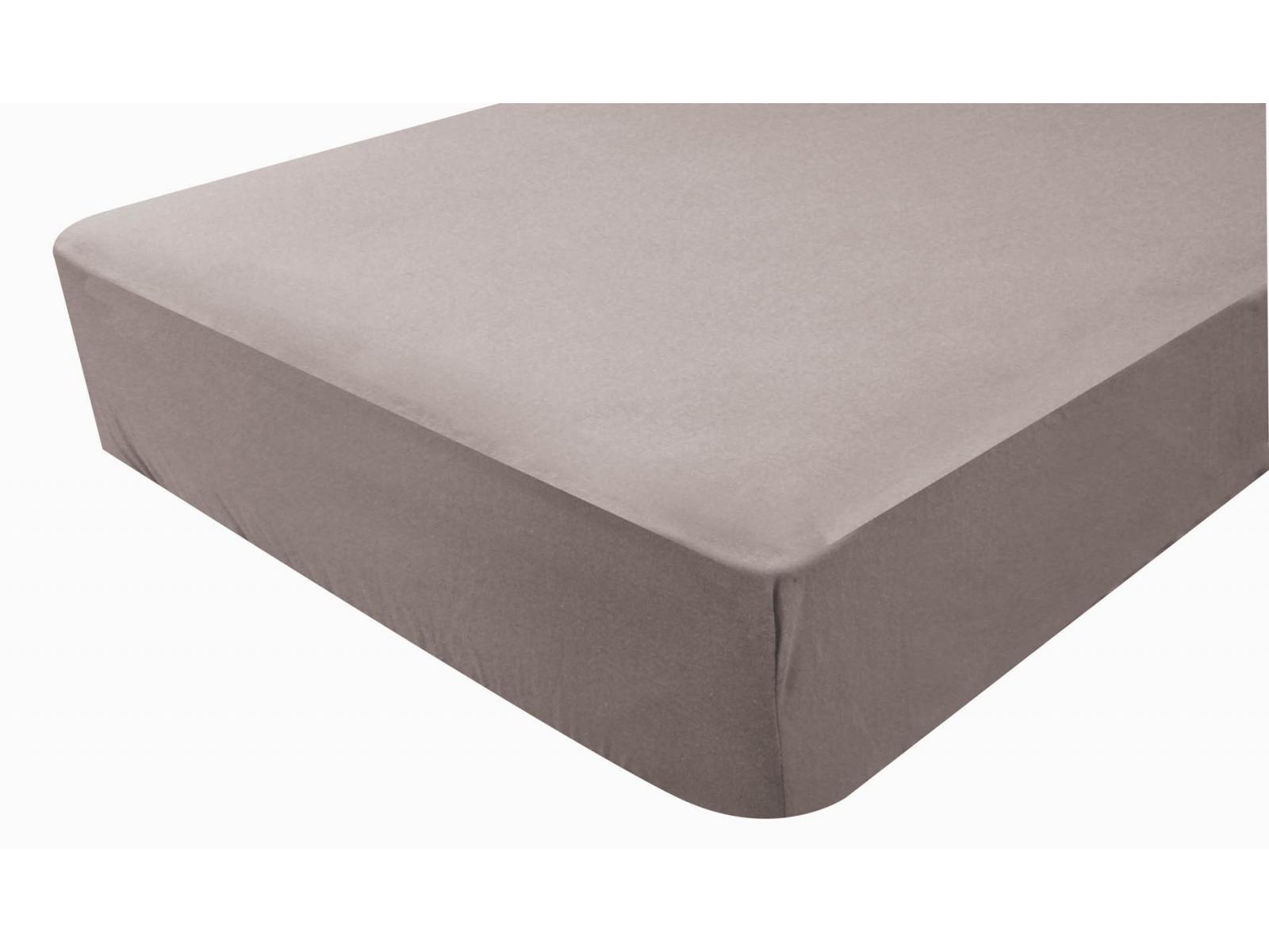 doux nid drap housse imperm able 60x120 cm taupe. Black Bedroom Furniture Sets. Home Design Ideas