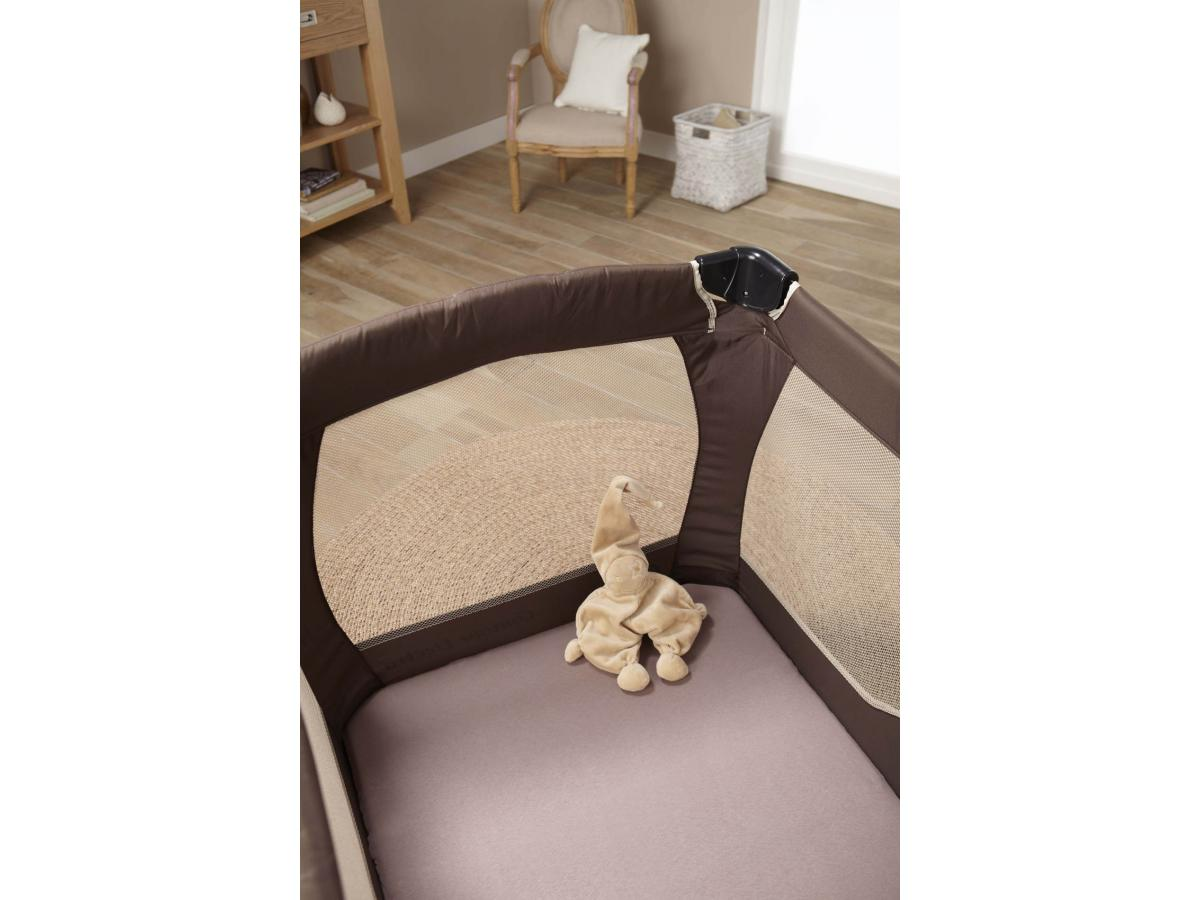 doux nid drap housse imperm able 70x140 cm taupe. Black Bedroom Furniture Sets. Home Design Ideas
