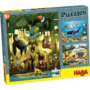 Haba - 300492 - Puzzles Les animaux du monde (284974)