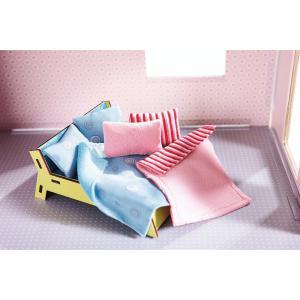 Haba - 300500 - Little Friends – Accessoires pour maison de poupée Oreillers et couvertures (284990)