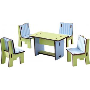 Haba - 300509 - Little Friends – Meubles pour maison de poupée Salle à manger (285008)