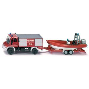 Siku - 1636F - Unimog pompiers avec bateau 196x78 mm (287152)
