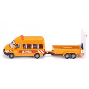 Siku - 1660 - Fourgonnette avec remorque de sécurité routière (287174)
