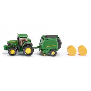 Siku - 1665 - Tracteurs John Deere avec presse à ballots 196x78 mm (287180)