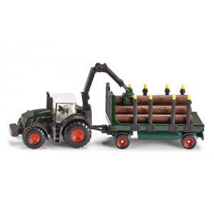 Siku - 1861 - Tracteur avec remorque forestière - 1:87ème (287384)
