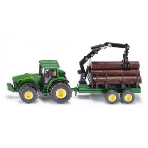 Siku - 1954 - Tracteur avec remorque forestière - 1:50ème (287404)
