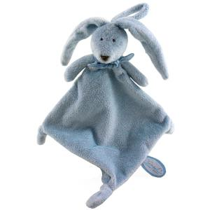 Dimpel - 883363 - Doudou lapin Flor attache-tétine - bleu (287678)