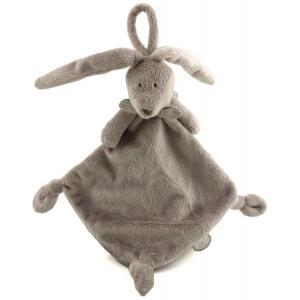 Dimpel - 883454 - Doudou lapin attache-tétine Flor beige gris (287690)