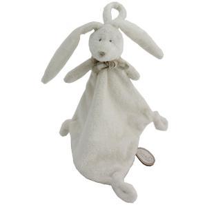 Dimpel - 883558 - Doudou lapin attache-tétine Flore blanc (287702)