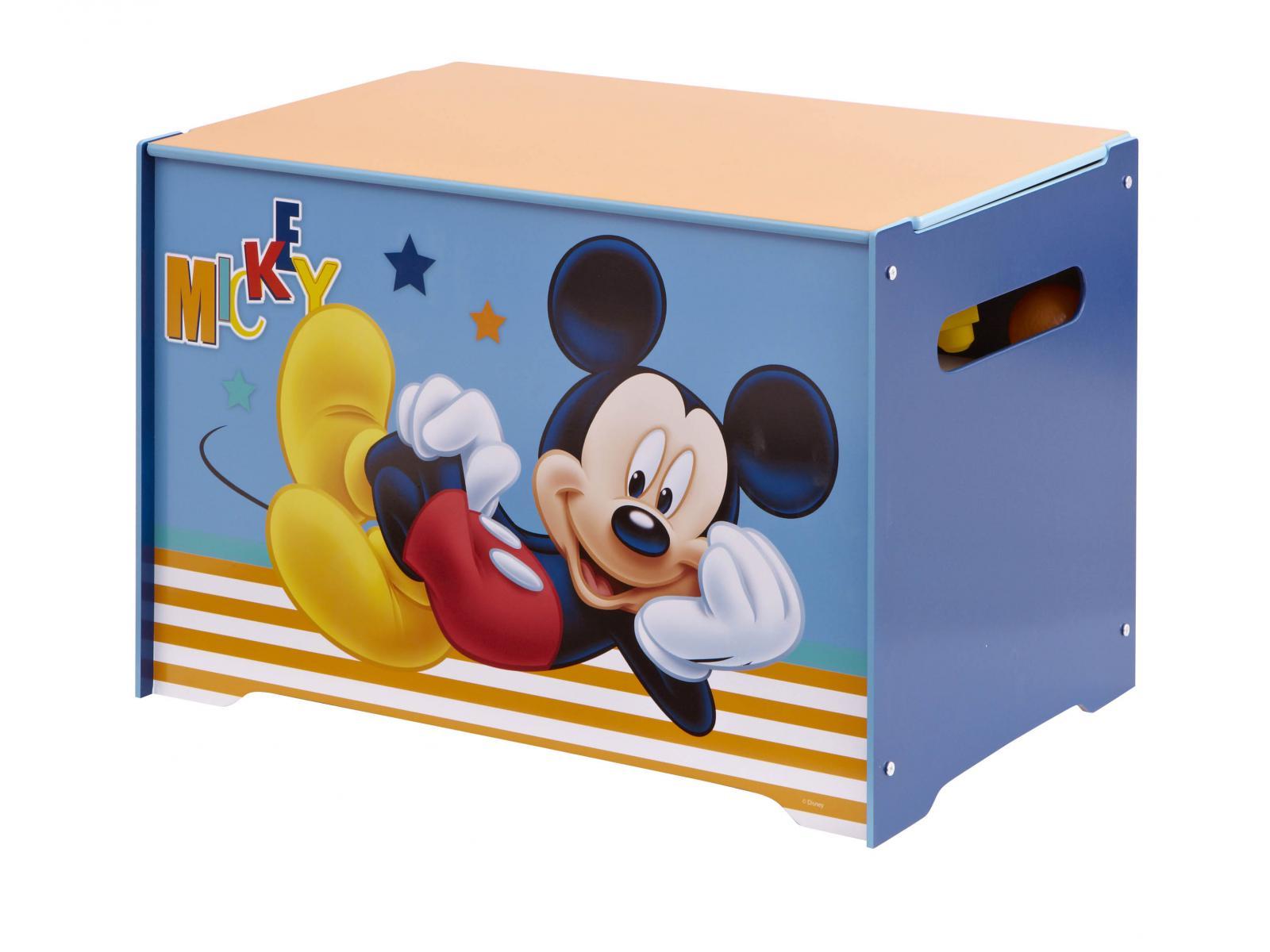 Room studio coffre de rangement mickey 60 x 40 x 40 cm - Coffre a jouet mickey ...