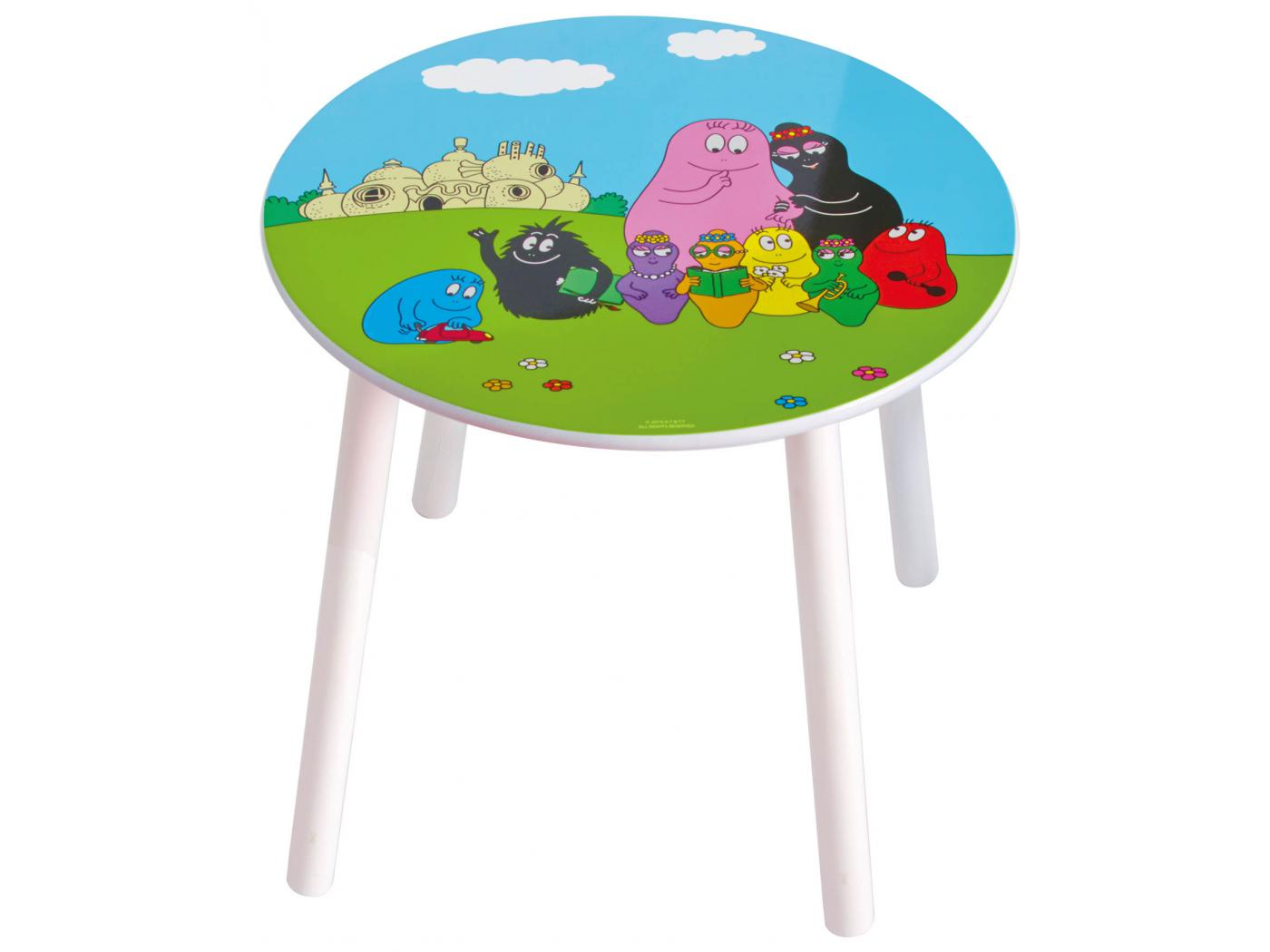 room studio table et tabourets barbapapa. Black Bedroom Furniture Sets. Home Design Ideas