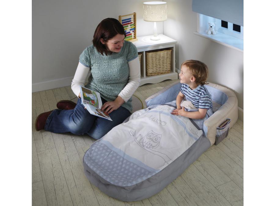 room studio lit gonflable mon premier lit gonflable readybed chouette endormie. Black Bedroom Furniture Sets. Home Design Ideas