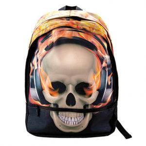 Bagguay - 142RAD703-4 - Bagguay - Sac à dos - 2 fermetures éclair flames skull (293034)