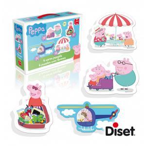 Diset - 618471 - Puzzle de 3 à 12 pièces : Peppa Pig (293150)