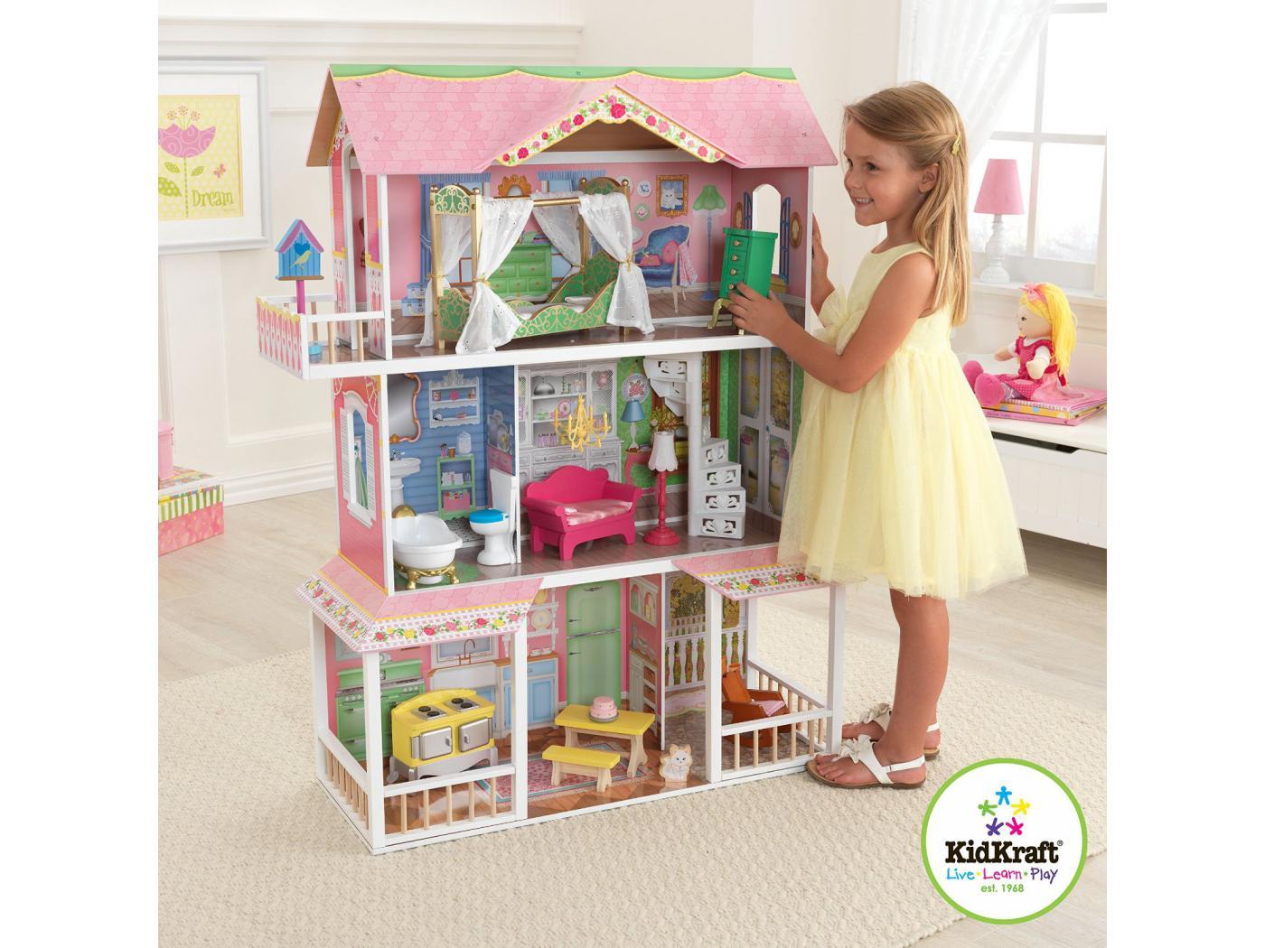 kidkraft maison de poup e douce savannah. Black Bedroom Furniture Sets. Home Design Ideas
