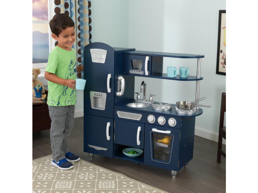 kidkraft cuisine vintage navy. Black Bedroom Furniture Sets. Home Design Ideas