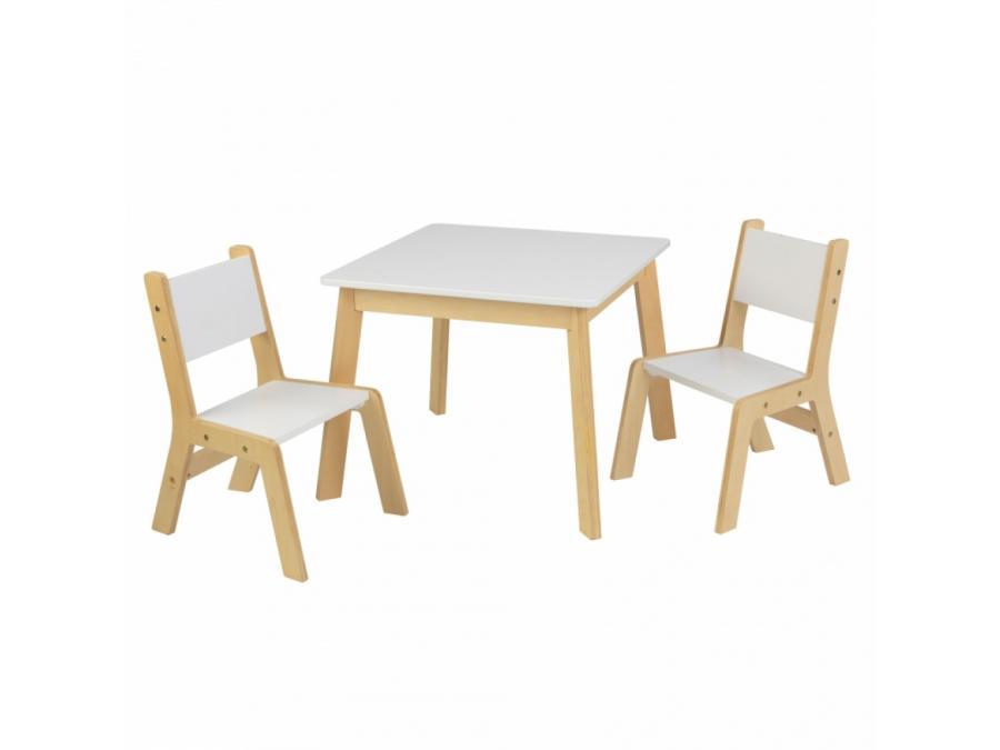 kidkraft ensemble table moderne plus 2 chaises. Black Bedroom Furniture Sets. Home Design Ideas