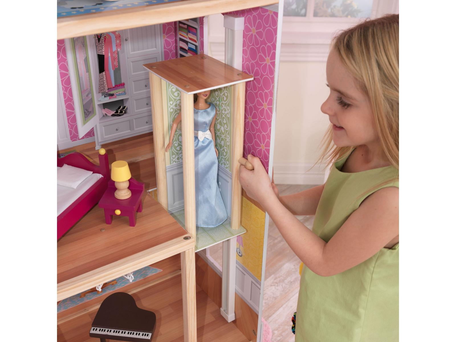 kidkraft maison de poup es majestueuse. Black Bedroom Furniture Sets. Home Design Ideas