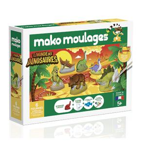 Mako moulages - 39018 - mako moulages «Le monde des dinosaures» Coffret 6 moules (294434)