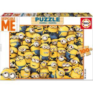 Educa - 16528 - Puzzle Minions 100 pièces Bois (295318)