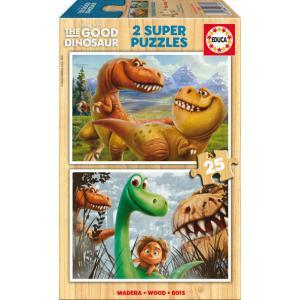 Educa - 15916 - Puzzle The Good Dinosaur 2X25 pièces Bois (295326)