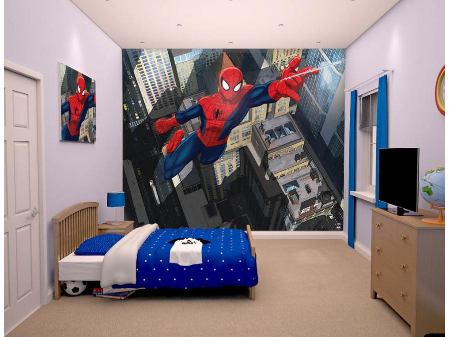 Room studio fresque murale spiderman ultimate for Decoration chambre spiderman