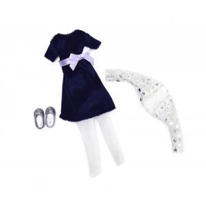 Lottie - LT044 - Robe velours bleu-marine Lottie - Blue Velvet 22x4x16,5cm (299508)