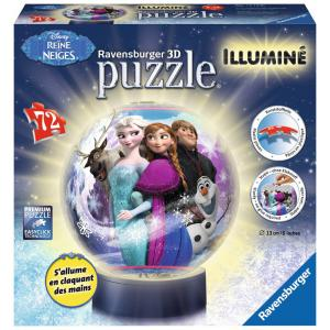 Ravensburger - 12183 - 3D Puzzles ronds - 72 pièces - Collection illuminée - La Reine des Neiges (300234)