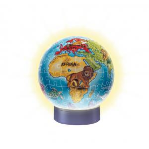 Ravensburger - 12184 - Puzzle 3D rond 72 pièces - Collection classique - Globe (300236)