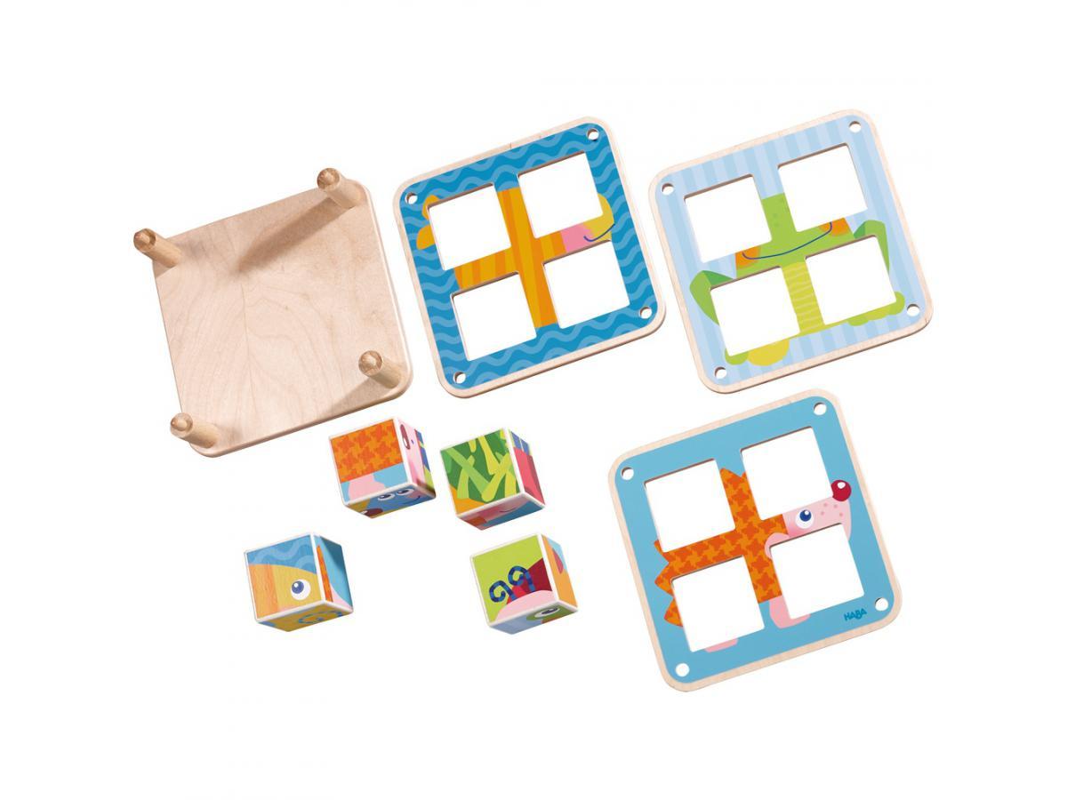 Haba cubes puzzle les animaux du jardin - Les animaux du jardin ...