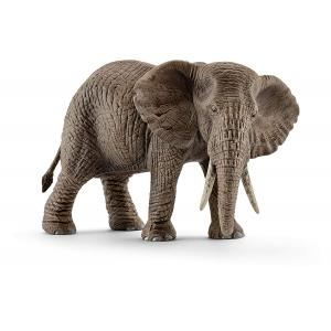 Schleich - 14761 - Figurine Éléphant d'Afrique femelle - Dimension : 14,6 cm x 7,5 cm x 9,1 cm (303404)
