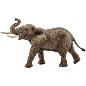 Schleich - 14762 - Figurine Éléphant d'Afrique mâle - Dimension : 19,5 cm x 9 cm x 12,3 cm (303406)