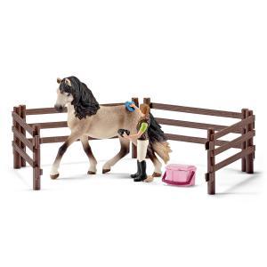 Schleich - 42270 - Kit de soin pour chevaux andalous - 8,2 cm x 24,2 cm x 18,9 cm (303422)