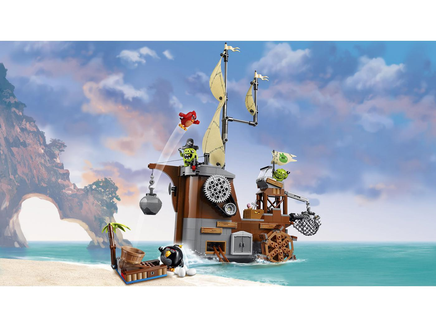 lego le bateau pirate du cochon. Black Bedroom Furniture Sets. Home Design Ideas