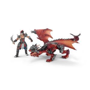Schleich - 70128 - Figurine Guerrier avec dragon (304110)