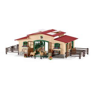 Schleich - 42195 - Écurie avec chevaux et accessoires pour figurines (304134)