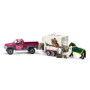 Schleich - 42346_old - Pick-up avec remorque pour cheval figurine (304148)