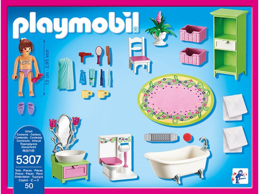 Playmobil salle de bains et baignoire for Salle bain playmobil