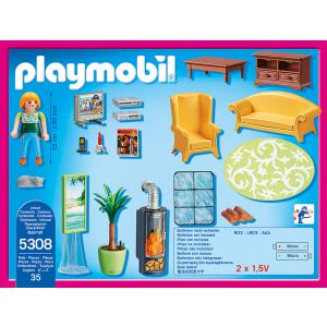 Playmobil - 5308 - Salon avec poêle à bois (304214)