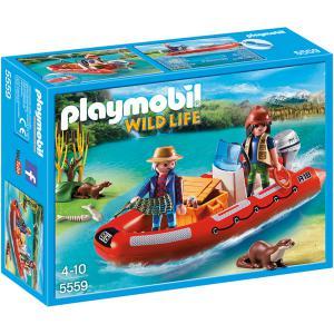 Playmobil - 5559 - Braconniers avec bateau (304236)